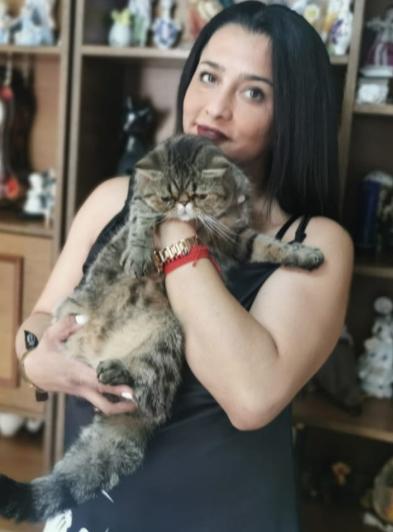 Priska gatita querida por su dueña