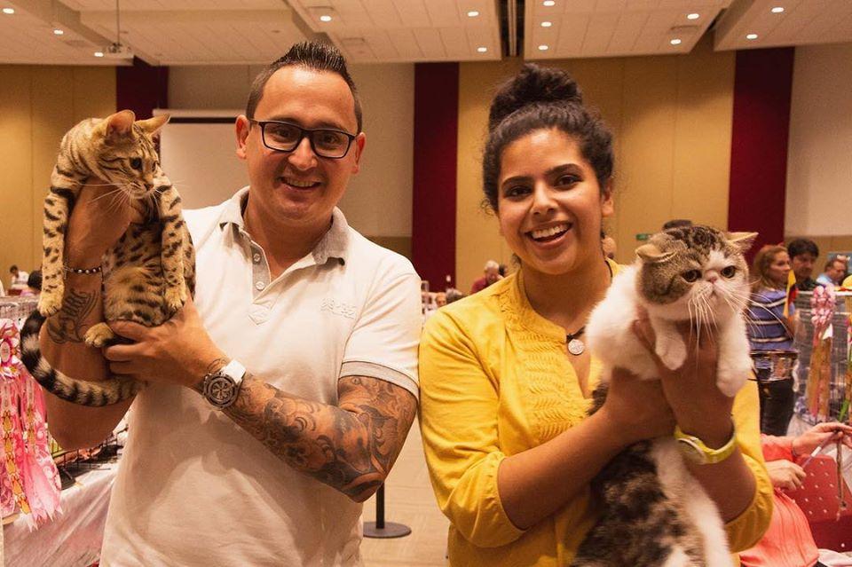 TICA 2018, México, Puebla, Mariana con otro participante